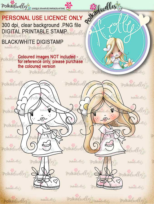 Holly Hello Pretty- digital papercrafting download