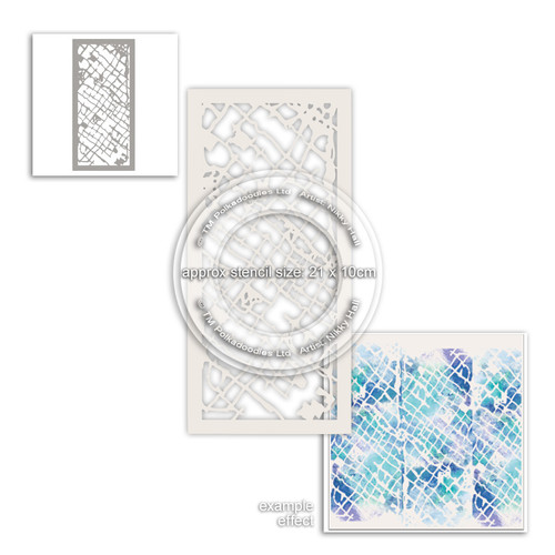Distressed Trellis Craft Stencil