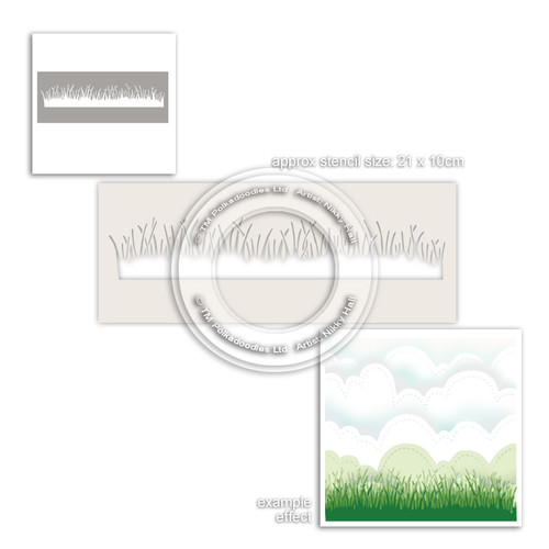 Grass Lawn Border Craft Stencil