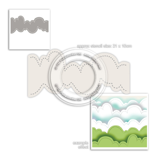 Cloud landscape craft stencil