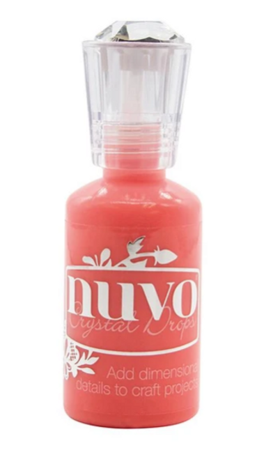 Nuvo Crystal Drops- Gloss- Blushing Red