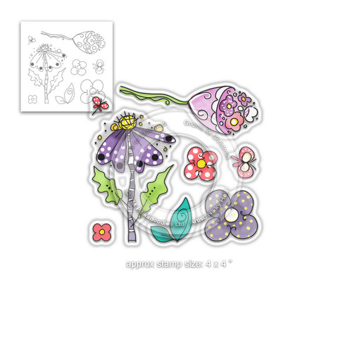PD8000 Perfectly Poised - Clear Polymer stamp set