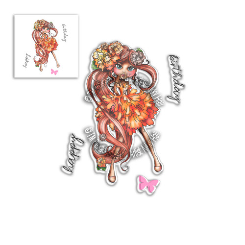 Marigold Darling Bud - Clear Polymer stamp set