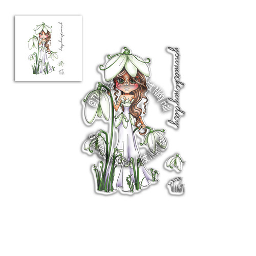 Snowdrop Darling Bud - Clear Polymer stamp set