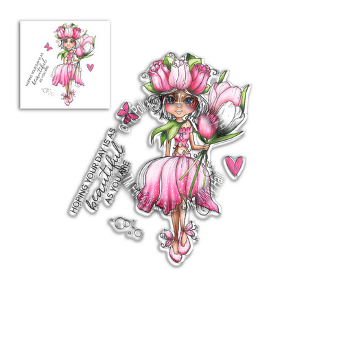 Tulip Darling Bud - Clear Polymer stamp set