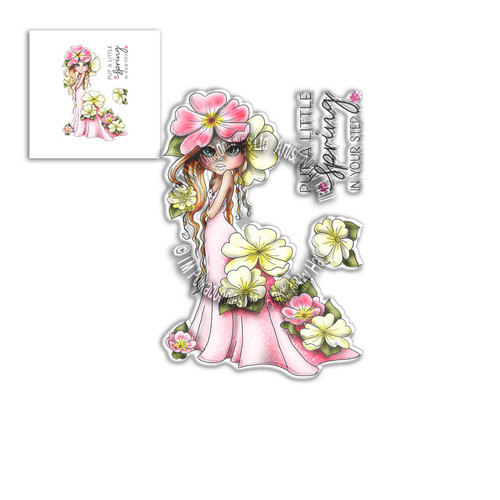 Primrose Darling Bud - Clear Polymer stamp set