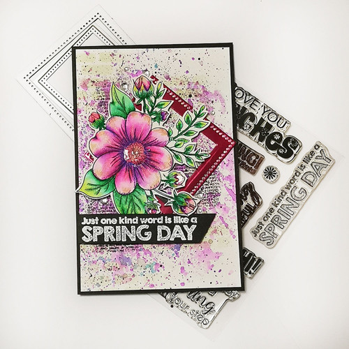 Spring Wishes - Clear Polymer stamp set