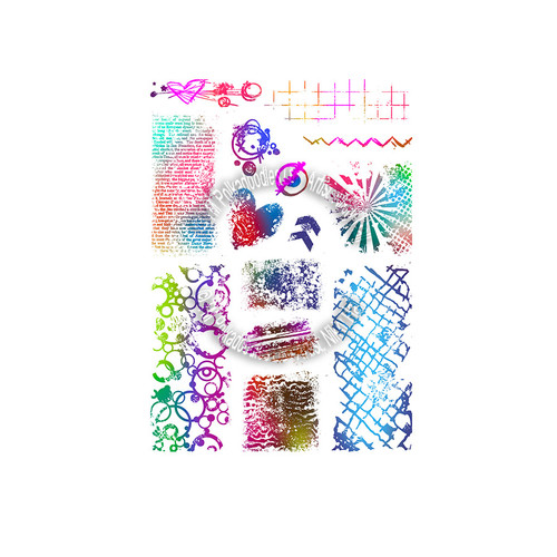 Amazing Textures - Large A5 Clear Polymer stamp set