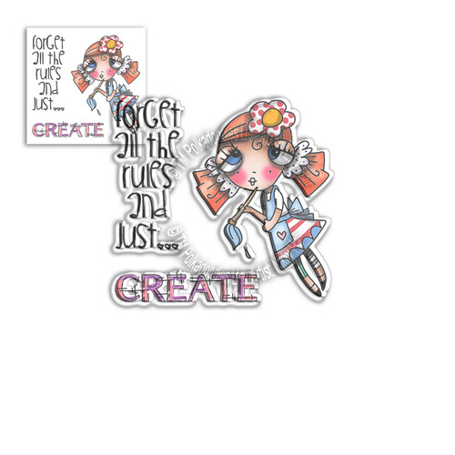 Weirdre Just Create -  Clear Polymer stamp set