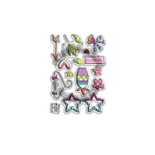 Hanging Garden -  Clear Polymer stamp set