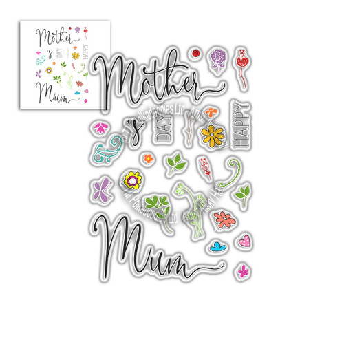 Mother's Sentiments -  Clear Polymer stamp set