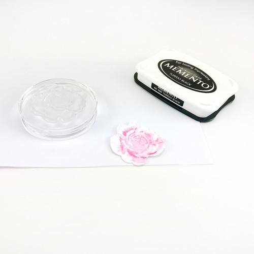 Round Acrylic Stamping Block 70mm Diameter