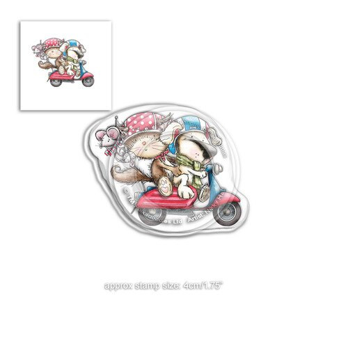 Horace & Boo Scooting Along - clear Stamp set