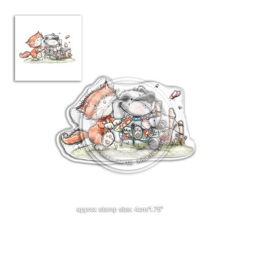 Horace & Boo in the Garden - clear Stamp set