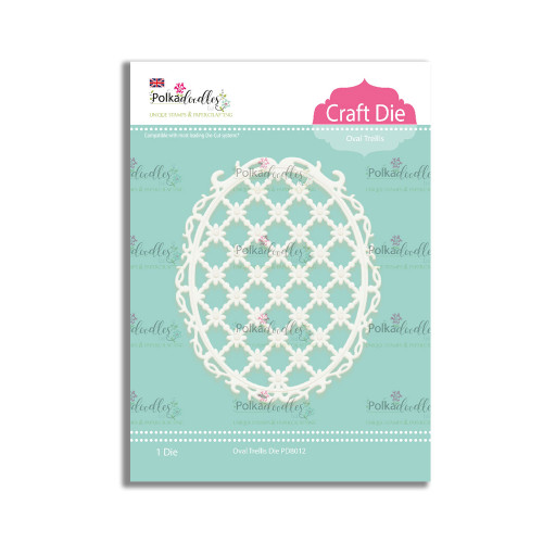 Oval Trellis Die to die cut the most gorgeous lattice pattern in an oval shape