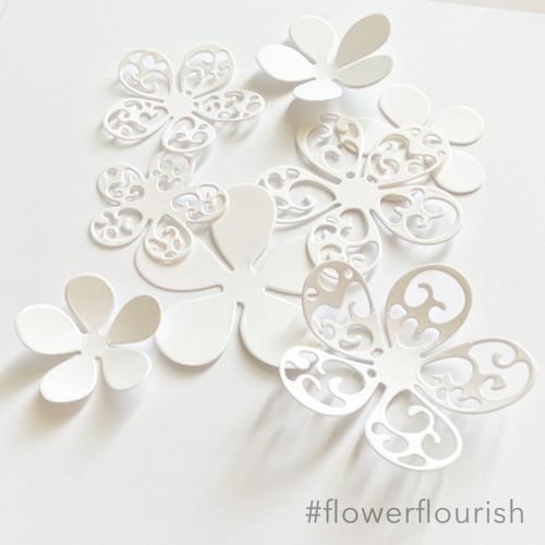 Flower Flourish die set