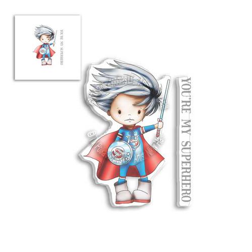 LITTLE DUDES SUPERHERO - Clear Stamp