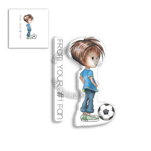 LITTLE DUDES FOOTBALL/SOCCER - Clear Stamp