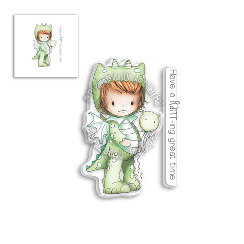 LITTLE DUDES DRAGON DRESS UP - Clear Stamp