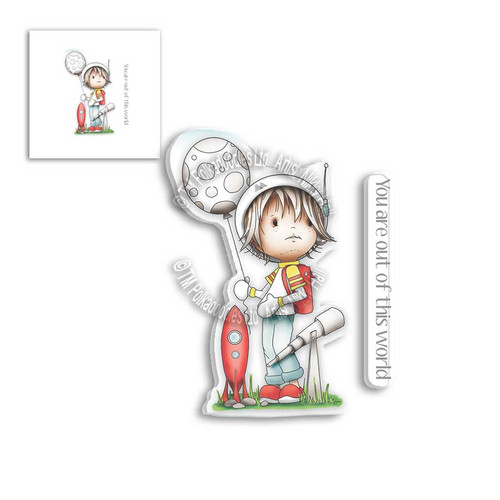 LITTLE DUDES ASTRONAUT - Clear Stamp