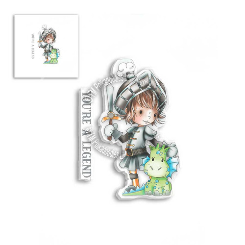 LITTLE DUDES - LEGEND KNIGHT - Clear Stamp