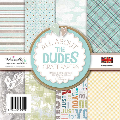 All About The Dudes Paper Pack 6 x 6""