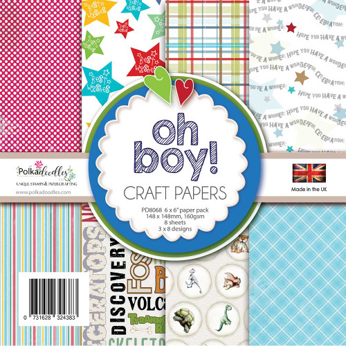 Oh Boy! Paper Pack 6 x 6""