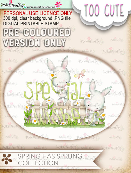 Special Wishes for Spring - Printable Digital download (DLPD8085)