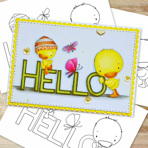 Hello Spring  - Printable Digital download