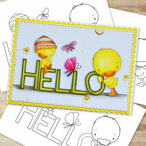 Hello Spring  - Printable Digital download