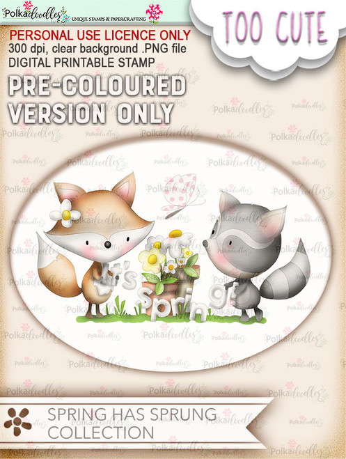 Its Spring - COLOURED Printable Digital download