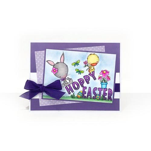 Hoppy Easter - COLOURED Printable Digital download