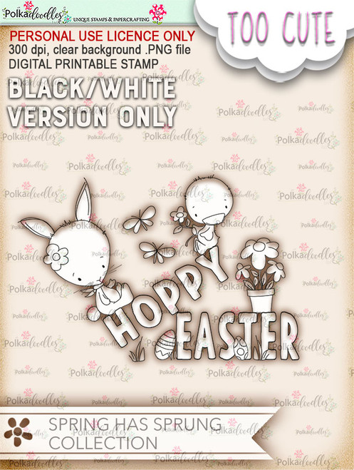 Hoppy Easter - Printable Digital download