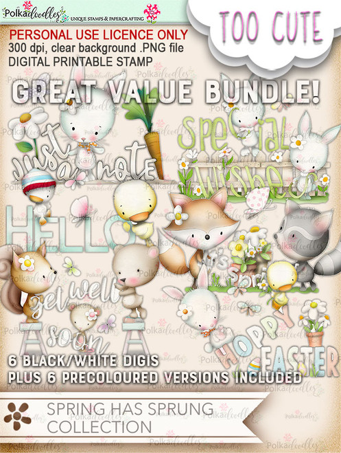 Spring Has Sprung - Printable Digital Download Bundle