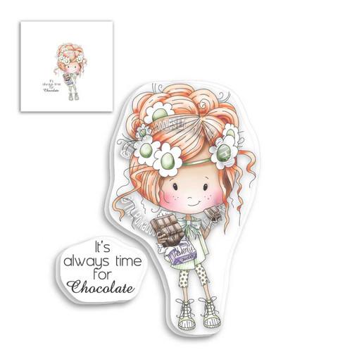 Winnie Clear Stamp - Chocolate Time