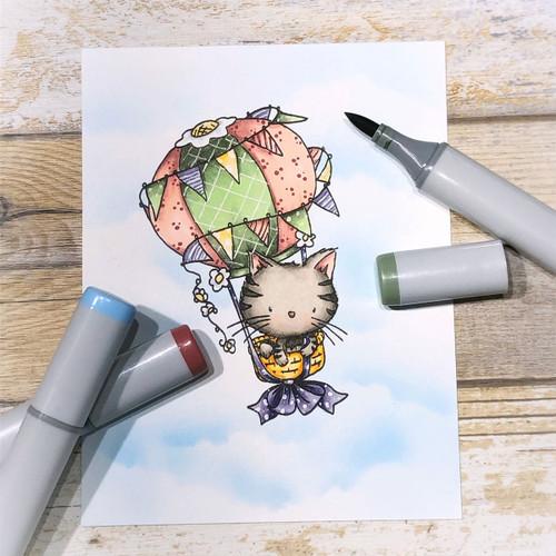 Fuzzypuffs Jasper Flying High - Clear Stamp Set