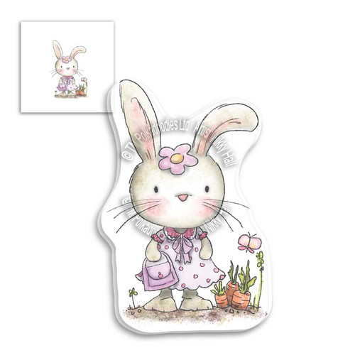 Fuzzypuffs Bunnita Shopping - Clear Stamp Set