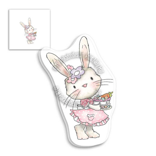 Fuzzypuffs Bunnita Spring Cake - Clear Stamp Set