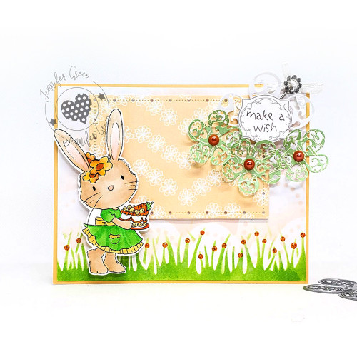 Fuzzypuffs Bunnita Spring Cake - Clear Stamp Set