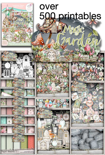 Magic Garden Soup printable download collection