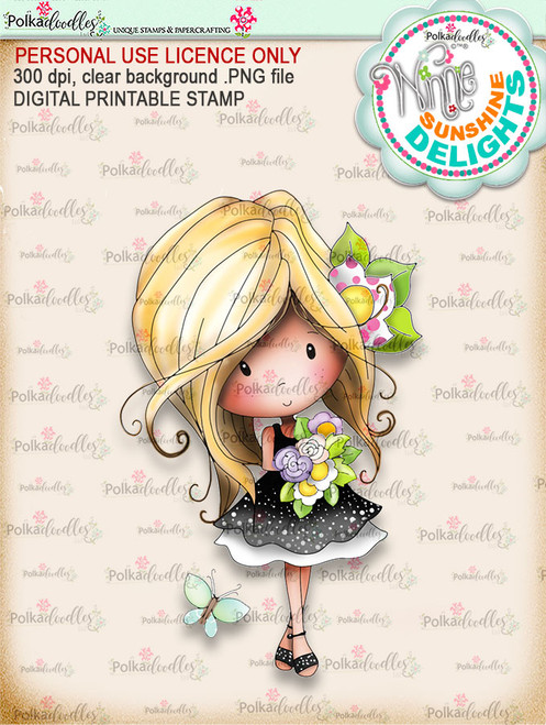 Sunshine Delight Bouquet (COLOUR) - Winnie Sunshine Delights digi scrap printable download