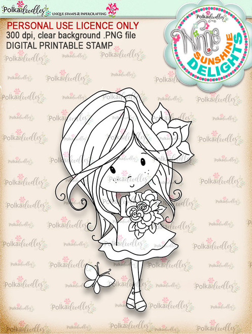 Sunshine Delight Bouquet - Winnie Sunshine Delights digi scrap printable download