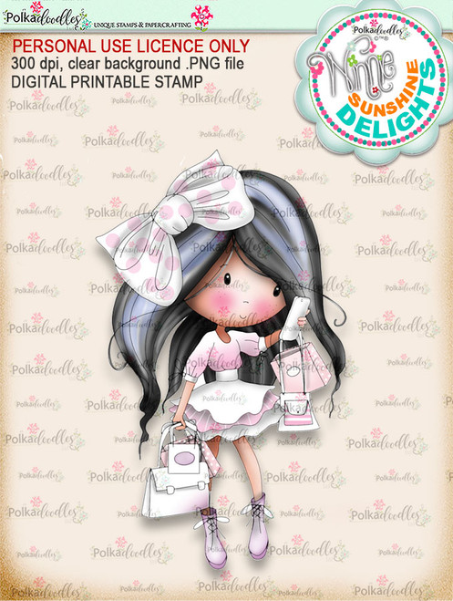 Sunshine Delight Busy (COLOUR) - Winnie Sunshine Delights digi scrap printable download