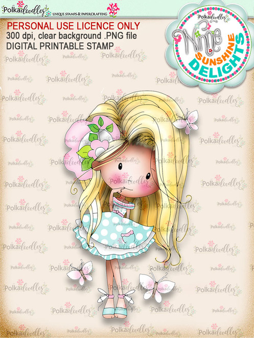 Sunshine Delight Cheeky (COLOUR) - Winnie Sunshine Delights digi scrap printable download
