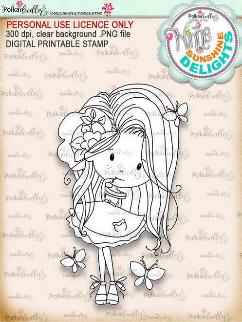 Sunshine Delight Cheeky - Winnie Sunshine Delights digi scrap printable download