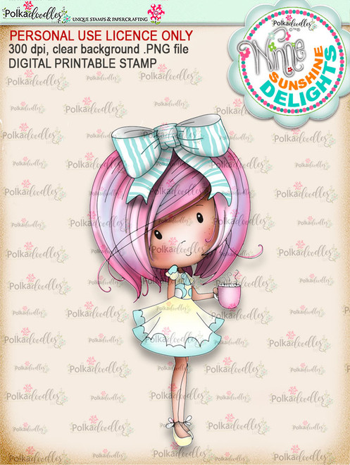 Sunshine Delight Coffee (COLOUR) - Winnie Sunshine Delights digi scrap printable download