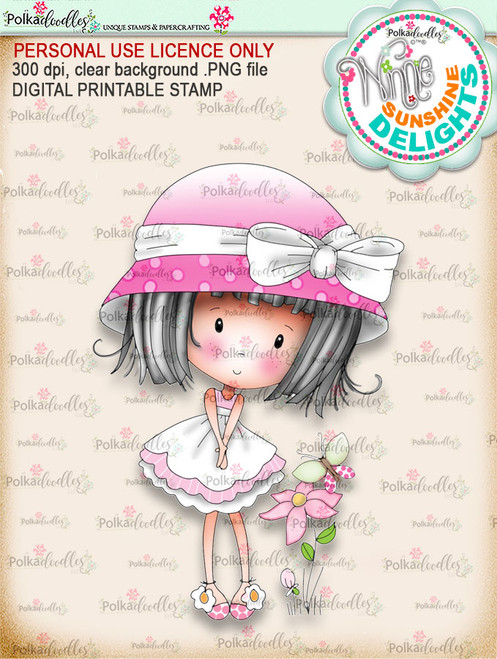 Sunshine Delight Cutest (COLOUR) - Winnie Sunshine Delights digi scrap printable download