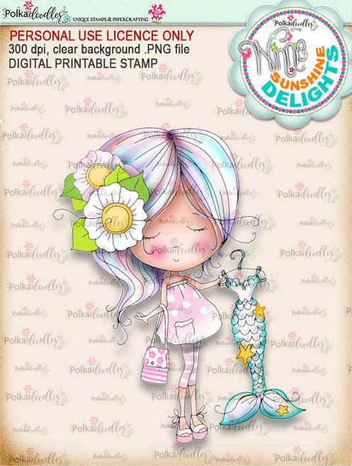 Sunshine Delight Shopping Bliss (COLOUR) - Winnie Sunshine Delights digi scrap printable download