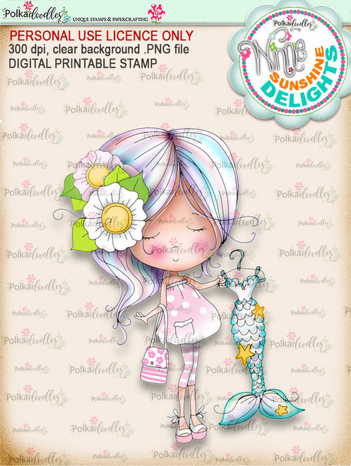 Sunshine Delight Shopping Bliss (COLOUR) - Winnie Sunshine Delights digi scrap printable download