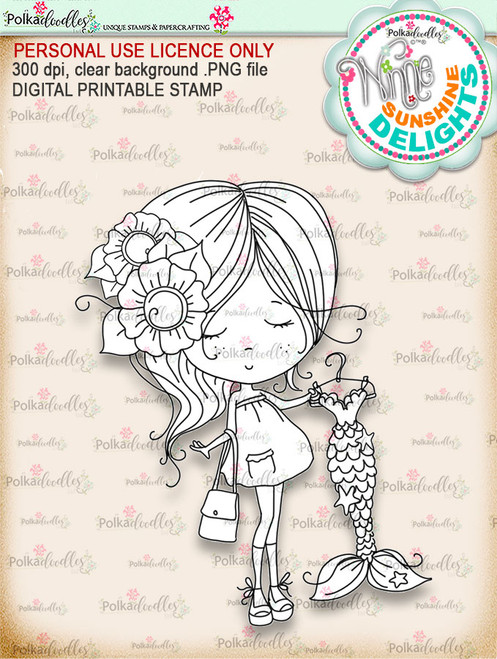 Sunshine Delight Shopping Bliss - Winnie Sunshine Delights digi scrap printable download